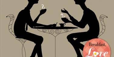 gay men eating dinner