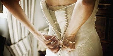 Lacing up a wedding dress... something I doubt I'll ever do