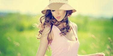 fashionable summer model