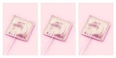 Condom lolipop
