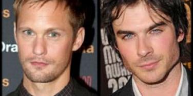 Alexander Skarsgard and Ian Somerhalder are two of the hottest male vampires