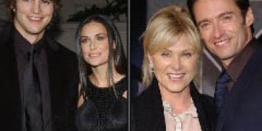 Ashton Kutcher and Demi Moore, Deborra-Lee Furness and Hugh Jackman