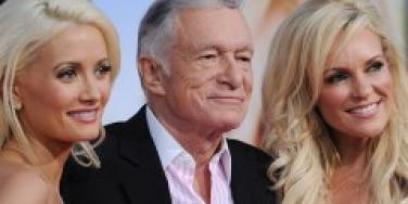 Holly Madison, Hugh Hefner and Bridget Marquardt