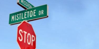 mistletoe sign