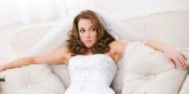 bride looking confused