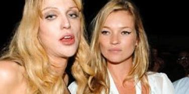 Courtney Love and Kate Moss