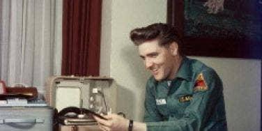 Elvis Presley in his army uniform