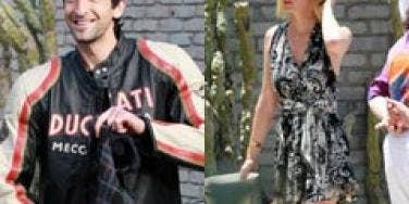 Adrien Brody and January Jones in Malibu