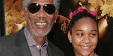 Morgan Freeman & Step-granddaughter