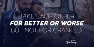 for better or for worse wedding quotes about marriage vows