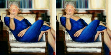 Who Is Petrina Ryan-Kleid? New Details Behind Artist Of Painting Of Bill Clinton In A Blue Dress Hanging in Jeffrey Epstein's Mansion