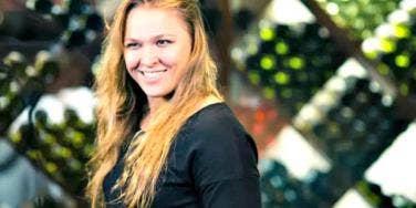 Ronda Rousey smiling.