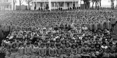 Pupils at Carlisle Indian Industrial School, Pennsylvania, c. 1900