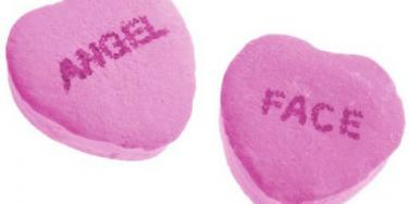 angel face heart candy