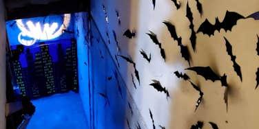 batman surprise birthday party in basement