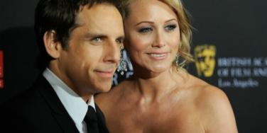 Ben Stiller with his wife, Christine Taylor