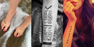 coordinates tattoo meaning best tattoo placement on body