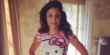 Bethenny Frankel as a way-too-skinny girl, dressed in four-year-old daughter Bryn's clothes