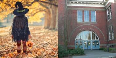 B.F. Day Elementary school and Halloween