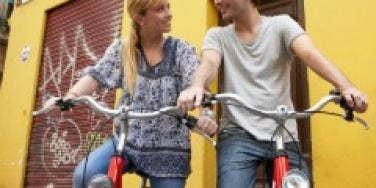 his & hers bike ride
