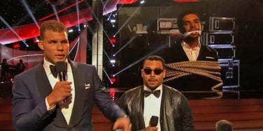Blake Griffin, Chris Brown and Drake at the 2014 ESPYs