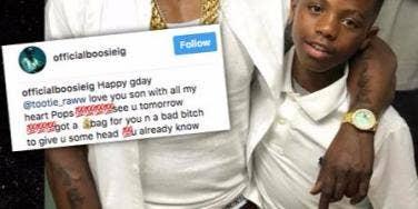 rapper boosie badazz birthday message son head