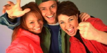 Guy with two women