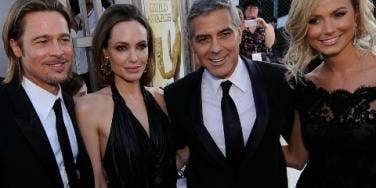 Girlfriends Of BFFs Brad Pitt & George Clooney Don't Get Along