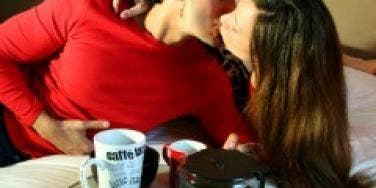 breakfast kiss
