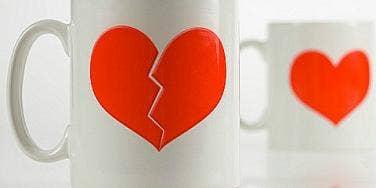 broken heart cup