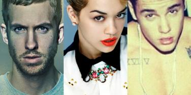 Calvin Harris, Rita Ora and Justin Bieber Instagram photos