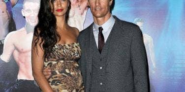 Camila and Matthew McConaughey baby bump