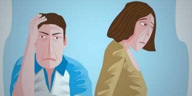 cartoon-man-woman-unhappy