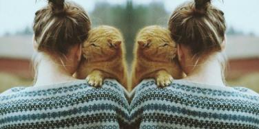 woman who loves cats