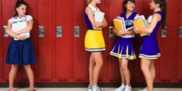 Cheerleaders and nerd