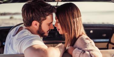 man and woman overcoming emotional detachment