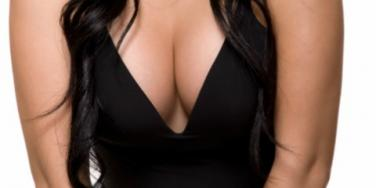 woman's cleavage