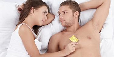 couple with condom