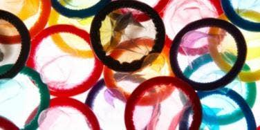 condoms in assorted colors