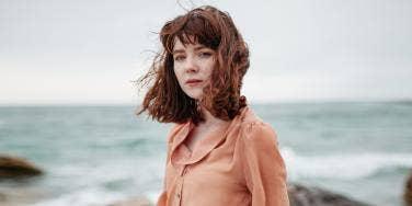 woman at a beach