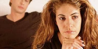 unhappy man woman couple
