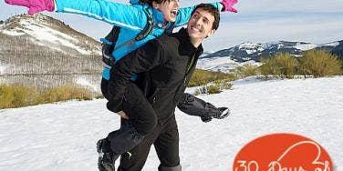 couple on winter getaway