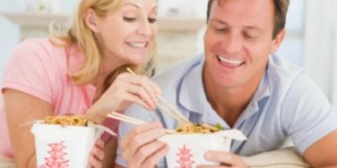 couple chinese food