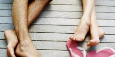 couple flip flops labor day