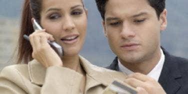 man woman phone