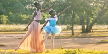 little girls dancing ballerinas