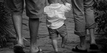 dads walking baby