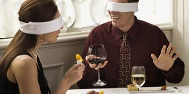 date blindfolded