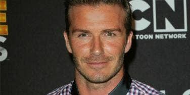 David Beckham up-close