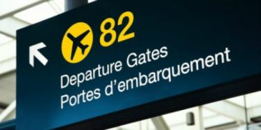 departure sign airport